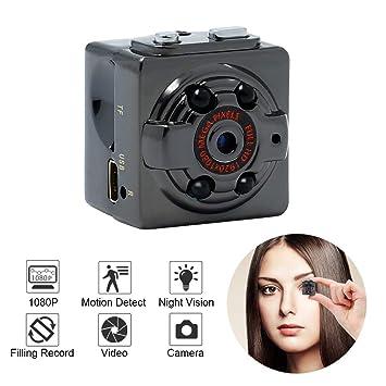 Mini Espía Oculta Cámara, SQ1080P Pequeña HD Wireless Cámara De Vigilancia De Seguridad Casera,