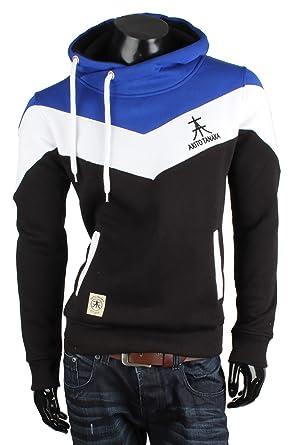 8be337e23d05 Akito Tanaka Herren Kapuzensweater 63965 Blau,Größe L  Amazon.de ...