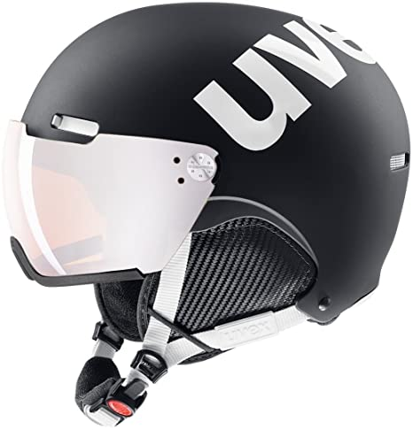 Uvex 500 Visor – Casco de esquí, Invierno, Unisex Adulto, Color Black-