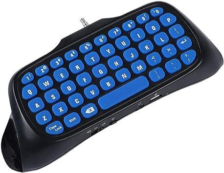 ASHATA Teclado de Mano, Teclado Mango Bluetooth Inalámbrico para PS4 / PS4 Slim,Keyboard Wireless de la Manija para Playstation 4 Controlador