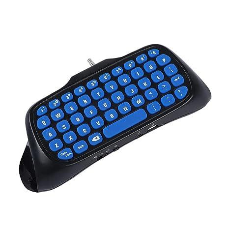ASHATA Teclado de Mano, Teclado Mango Bluetooth Inalámbrico para PS4 / PS4 Slim,Keyboard