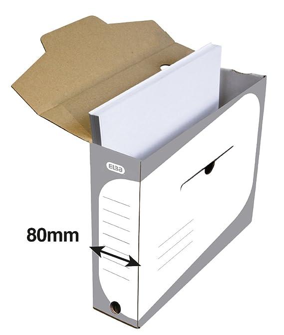 Elba 948294 - Archivo definitivo automático, A4, 10 cm, color gris: Amazon.es: Oficina y papelería