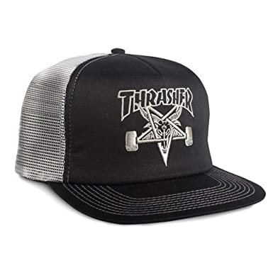 3c4c0201655 Image Unavailable. Image not available for. Color  Thrasher Magazine  Embroidered Skate Goat Snapback ...