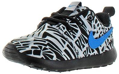 86fda12a05689 Nike Rosherun Print (PS TD) Wolf Grey Black White Photo