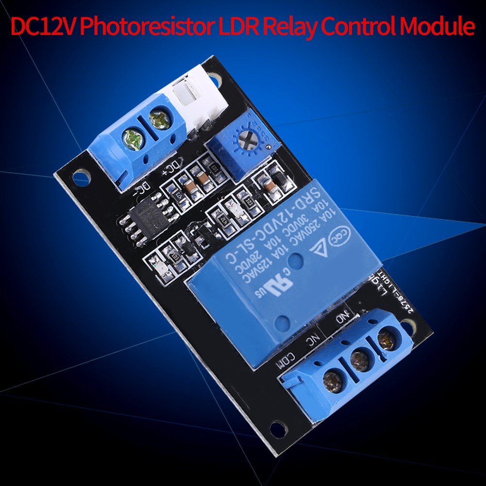 Dc12v Photoresistor Ldr Relay Control Module Light Dark Activated Operated Sensor Switch Controler Automotive