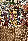 GladsBuy Loving Graffiti 8' x 12' Digital Printed Photography Backdrop Graffiti Theme Background YHA-236