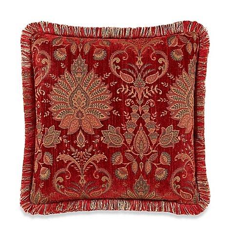 Heritage Square Throw Pillow inレッド  B0786SL19M