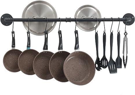 Plastic S Shape Double Hook Hanger Rack Clothes Pot Pan for Kitchen Wall
