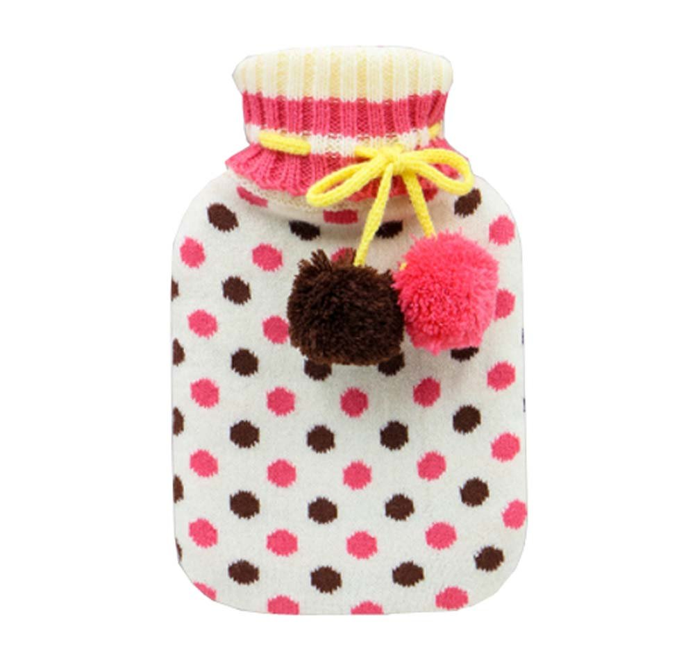 850 ML Natural Rubber Water Injection Hot Water Bag,Pink