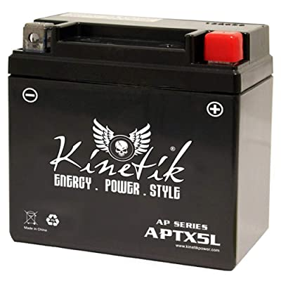 Kinetik 12V 4AH Motorcycle Scooter Battery : Sports & Outdoors