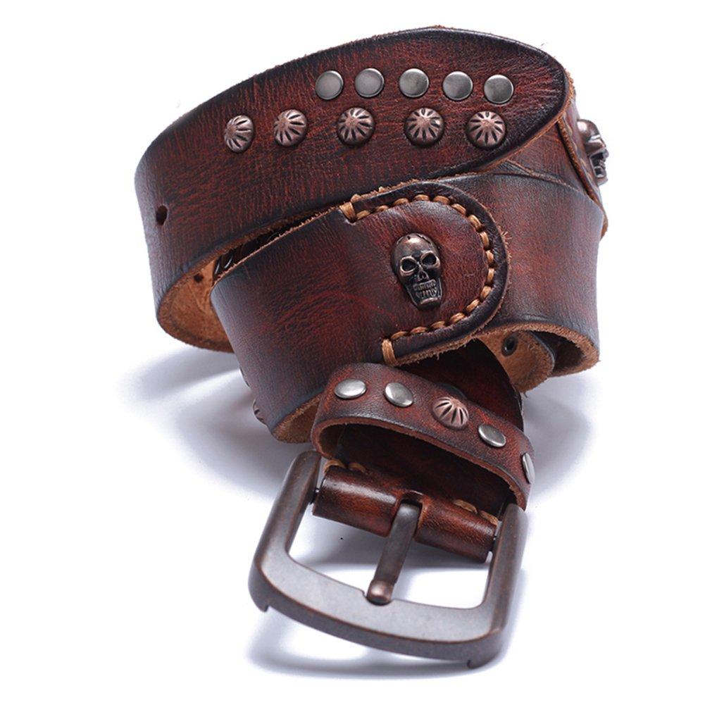 Mens Retro Needle Buckle Belt Handmade Casual Belt