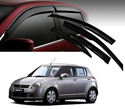 8077f8d55 Image Unavailable. Image not available for. Colour: Auto Pearl Car Rain  Wind Door Visor Side Window Deflector for - Maruti Suzuki New Swift