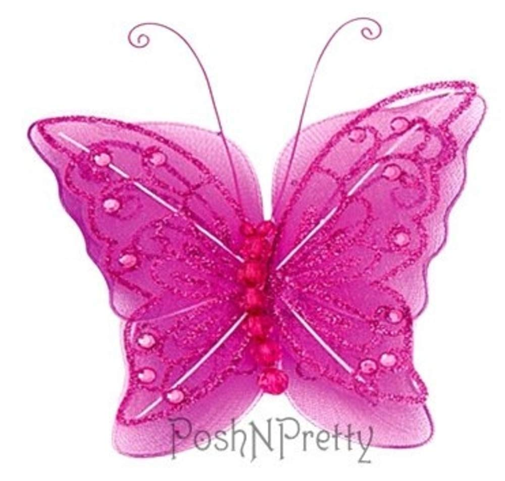 Fairy Glitter Butterfly Wings, Newborn, Baby, Photography prop Baby, - Fairy B00IHABUCC Color: HOTPINK by PoshNPretty B00IHABUCC, パワーストーン 石流通センター:2f69f373 --- integralved.hu