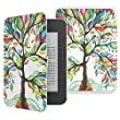 MoKo NOOK GlowLight 3 case, Slim Fit Premium PU Leather Protective Cover Case for Barnes & Noble Nook GlowLight 3 2017 eReader (Model# BNRV520) - Lucky TREE