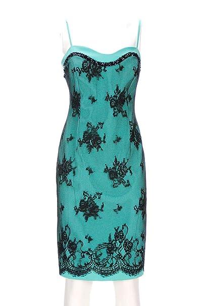 various colors 59e7f 9b580 CERIMONIA Vestito Donna Verde Tiffany Pizzo: Amazon.it ...
