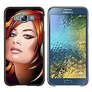 EJOOY---Cubierta de la caja de protección para la piel dura ** Samsung Galaxy E7 E700 ** --Dj Chica