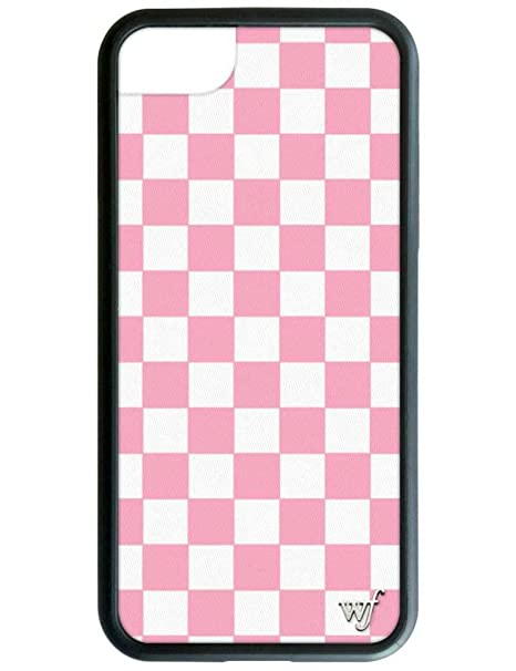 the best attitude 22995 26346 Wildflower Limited Edition iPhone Case for iPhone 6, 7, or 8 (Pink  Checkered)