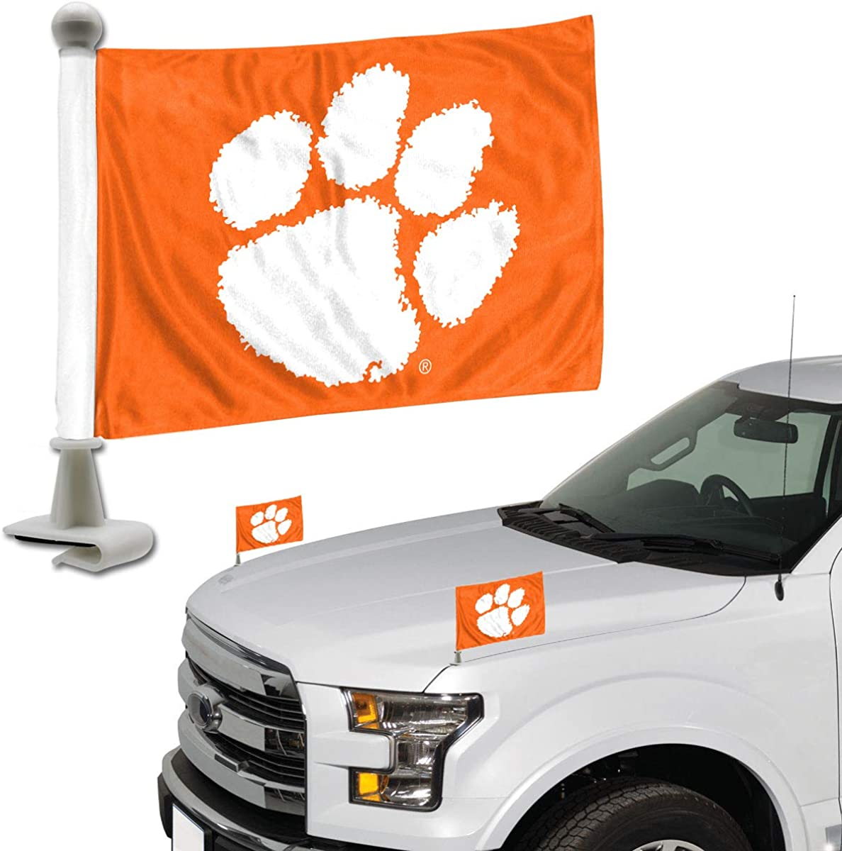NCAA Clemson Tigers Car Flag Set of 2