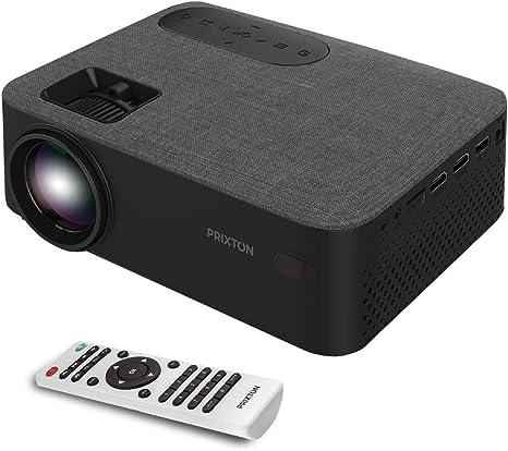 Opinión sobre PRIXTON Lumière - Proyector portatil / Proyector LED Portable Full HD, 5.000 Lúmenes, Conexión HDMI, USB, MicroSD, Aux in, AV in, Altavoces Integrados y Mando a Distancia Incluido