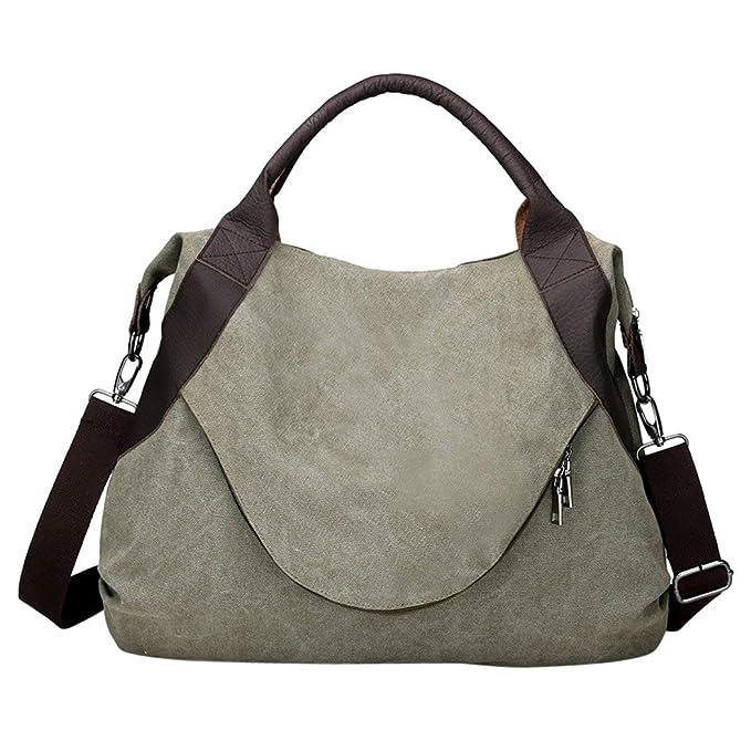 63842b6f9a82 Fanspack Vintage Canvas Hobo Handbags Top Handle Shoulder Tote Shopper  Handbag for Women