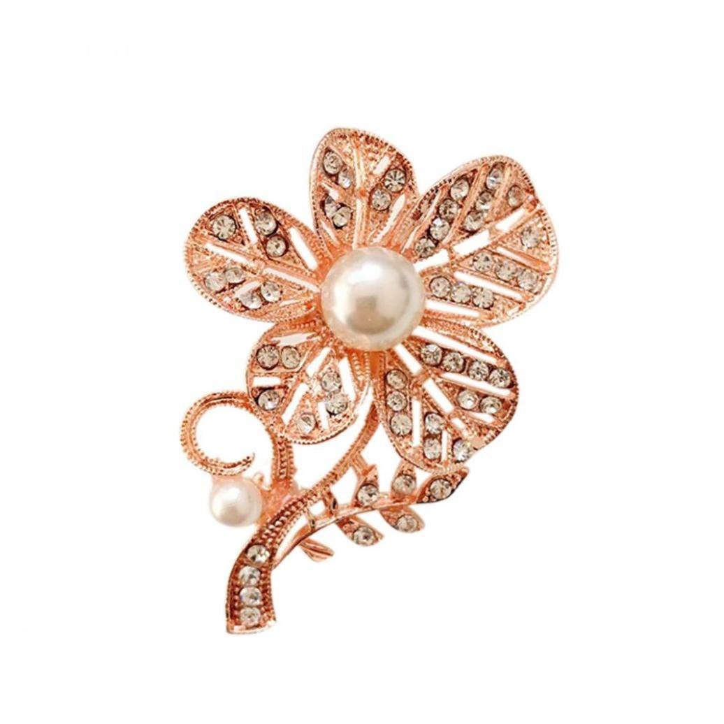 Accesorios Escudo de la Flor en el Pecho Pines Broche del Rhinestone Ropa de Mujer