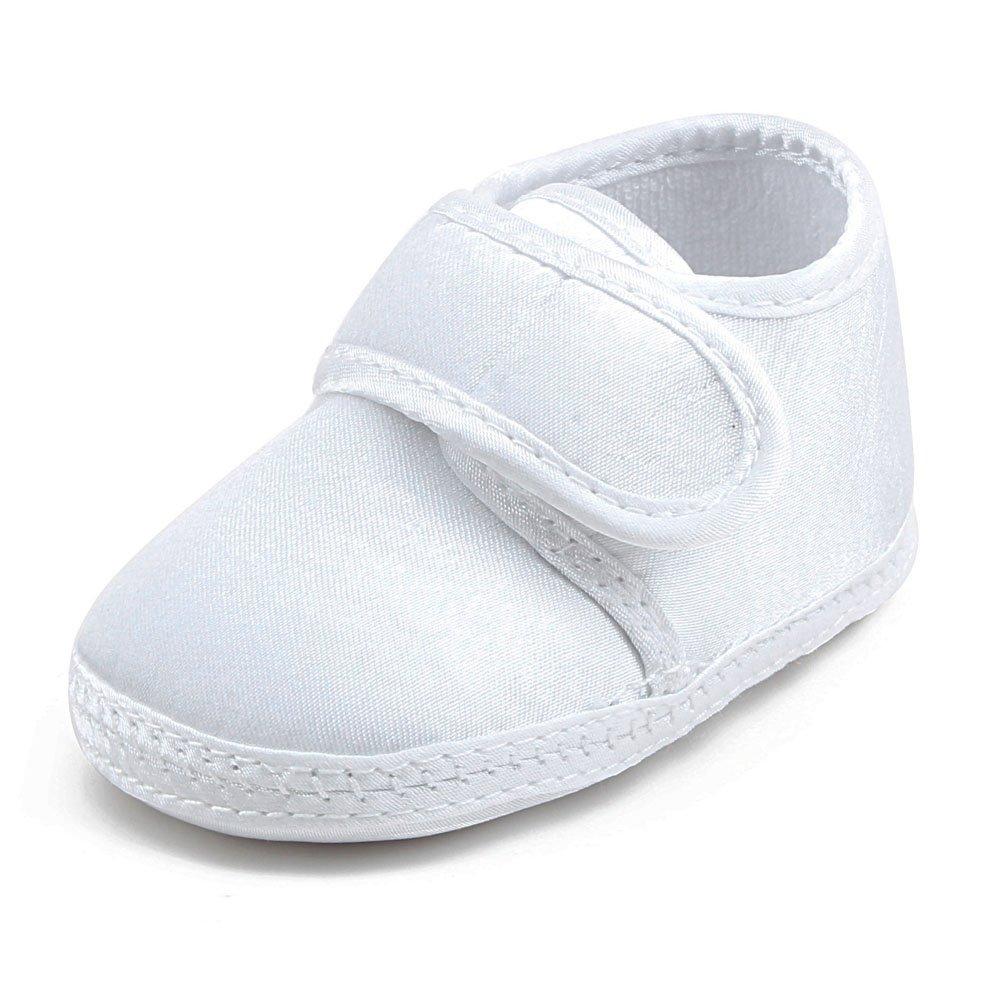 DELEBAO Zapatos Bebé Niña Zapatillas para Bebes Primeros Pasos Blancos Zapatos Bebe Bautizo Suela Blanda