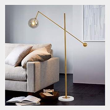 LYM Tageslicht Stehleuchte & Stehlampe Moderne Glaskugel Wohnzimmer ...