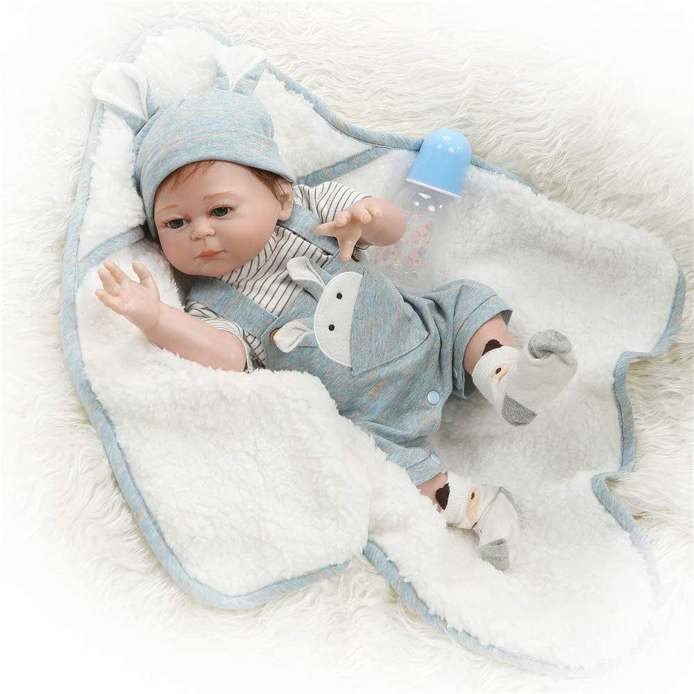 Adorable Reborn Baby Girl Dolls Newborn Preemie Bebe Silicone Full Body Bathable