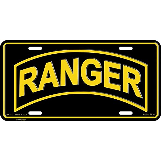 Amazon Army Ranger License Plate United States Us Army Ranger