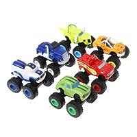 JimTw-FR 6 Pcs Blaze Véhicules Racer Voitures Camions Cadeaux pour Enfants Diecast Jouets Jouets Machines