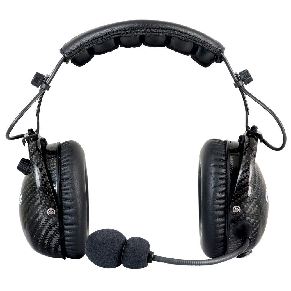 Rugged Radios H28-AB AlphaBass Two Way Radio Carbon Fiber Headset with Premium Bass Speakers