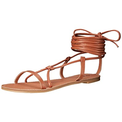 ca203cb96ce0 QUPID ATHENA-947A Women s Strappy Lace Up Crisscross Gladiator Flat  Sandals