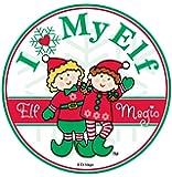 ElfマジックI Love My Elfマグネット–12パックバンドル