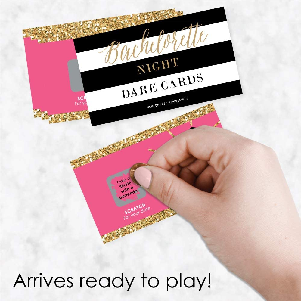 Bachelorette Party Favors 8 Team Bride Sashes /& Pack of Lottery-Style Scratch-Off Dare Game Cards