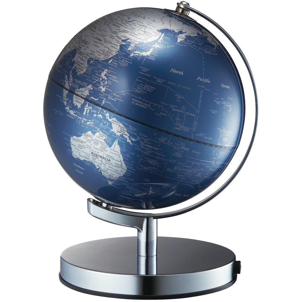 ナカバヤシ 地球儀 ライティングアース 光る地球型オブジェ 球径20cm ブルー LE-20-BL B01NBDI9FF  ブルー 20cm