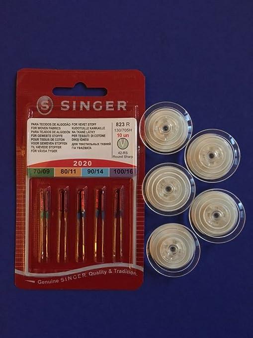 5 Singer Overlock Nähmaschinen Nadeln 2022 Stärke80//11