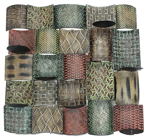 Capstone Bay Decorative Metallic Quilted Wall Candle Art