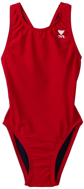 TYR Sport Girl's Solid Maxback Swim Suit MSO1Y