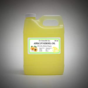 Apricot Kernel Oil Organic 100% Pure By Dr.Adorable 32 oz /1 Quart