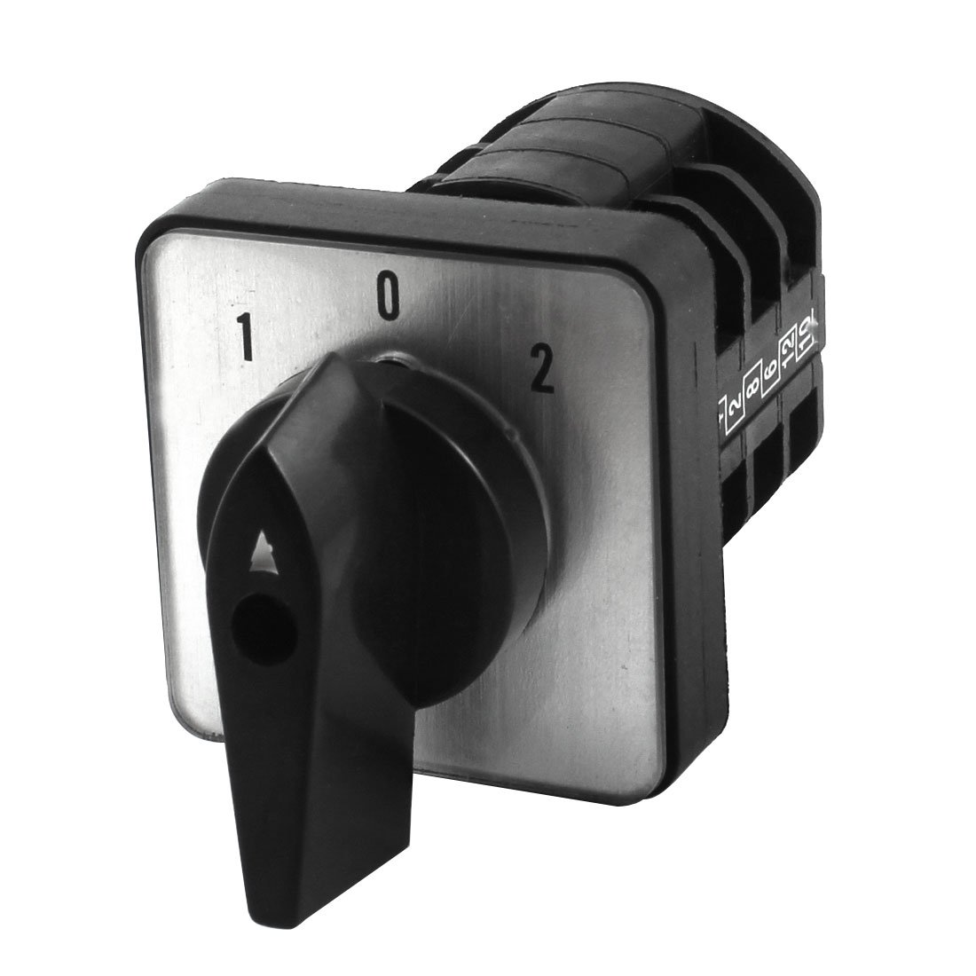 uxcell LW8-10A 380V 10A 3 Pole Panel Mount Universal Cam Changeover Switch