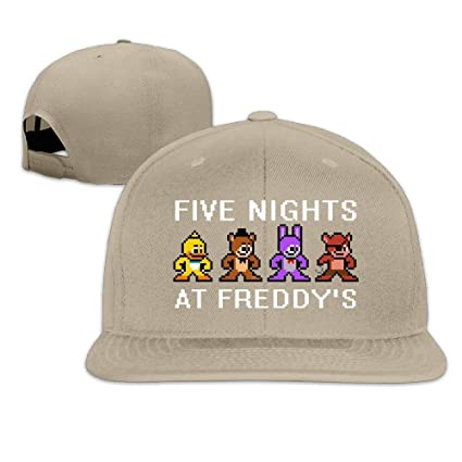 Amazon.com   GlyndaHoa Unisex Five Nights at Freddy s Game Plain Adjustable  Snapback Hats Caps   Sports   Outdoors 92a50fcd17e3