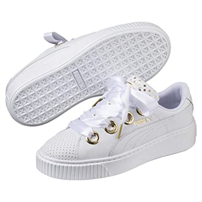 finest selection 4d2b3 6f0cd Puma Women's Platform Kiss Ath Lux Wn S White-pu Leather ...