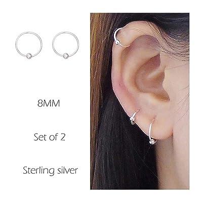 Amazon Com Sterling Cartilage Earrings Piercing Earring Nose Rings