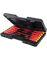 Silverline 918535 Insulated Soft-Grip Screwdriver Set Slotted & Phillips 11-Pieces