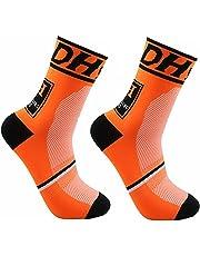 JIANYE Calcetines de Ciclismo para Compresión Hombres Mujer Deporte Ciclismo Calcetines 2 Pares Europa 42-45