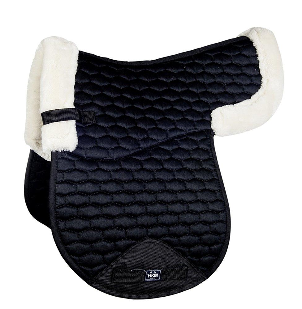 Hkm Hkm 4057052211157 Saddle Cloth with Synthetic Fur 9123 Black Natural Versatile