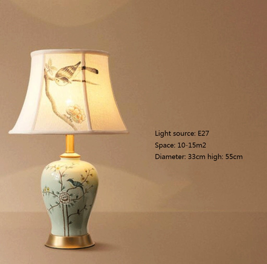 YYF Tischleuchte American Modern Modern Modern Minimalistischen Keramik Tischlampe Europäischen Warm Home Wohnzimmer Kreative Studie Schlafzimmer Nachttischlampen (Farbe   E) B07BWDD7HT | Elegante Form  8224b0