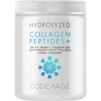 Collagen Peptides Powder - Vitamin C, Digestive Enzymes, Hyaluronic Acid, Amino Acids - Hydrolyzed Protein Collagen Type I and III - Grass Fed Collagen - Non-GMO, Gluten-Free, Unflavored - 9.98 oz