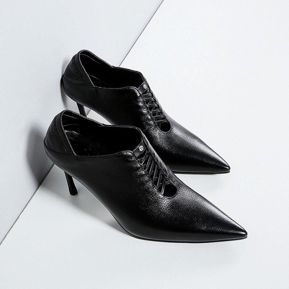 H+H HH Westliche Trendige Schuhe mit Einzelnen Schuhen Tragen Tragen Tragen Spitze Schuhe mit Hohen Absätzen 721910
