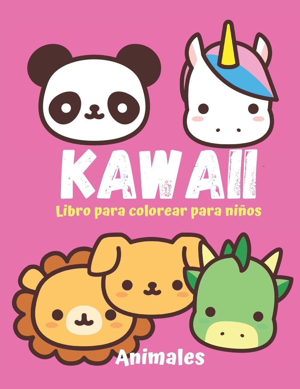 Kawaii Libro Para Colorear Para Ninos Animales 18 Ilustraciones